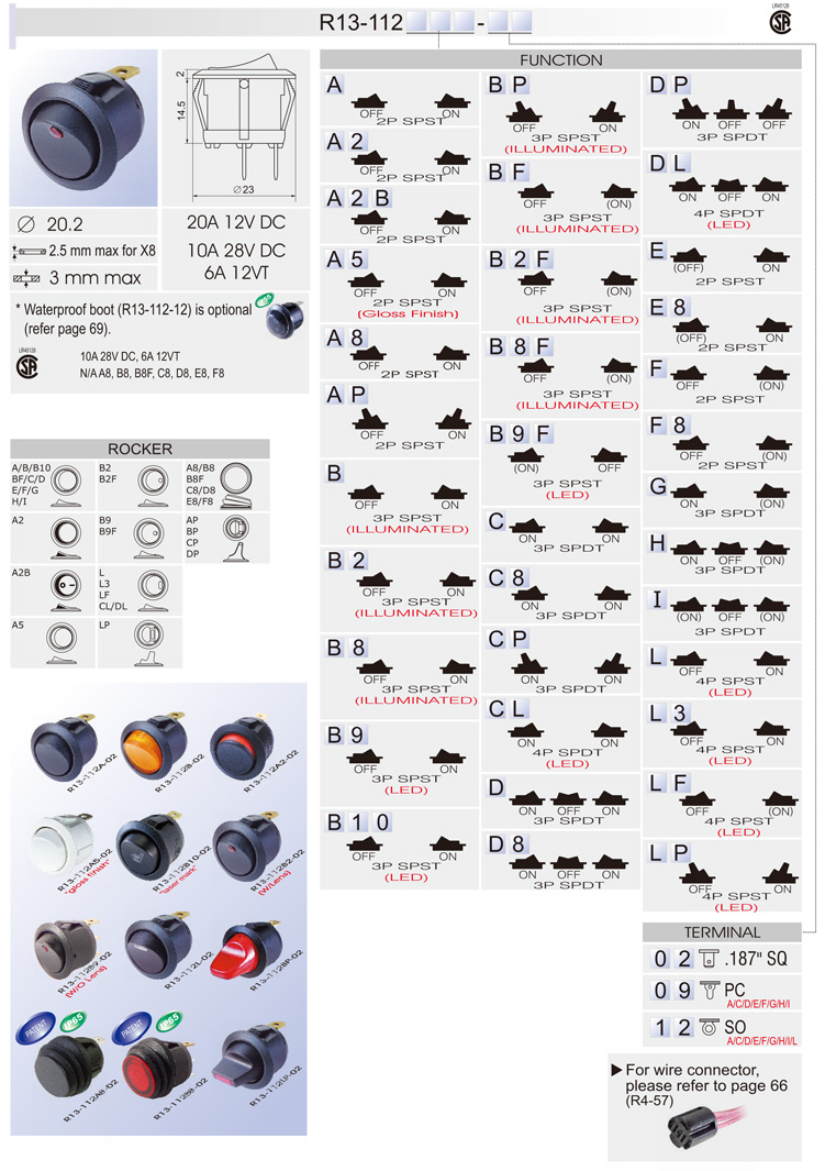 r13 112 r13) rocker switch car switches bentex r13 112 switch wiring diagram at edmiracle.co