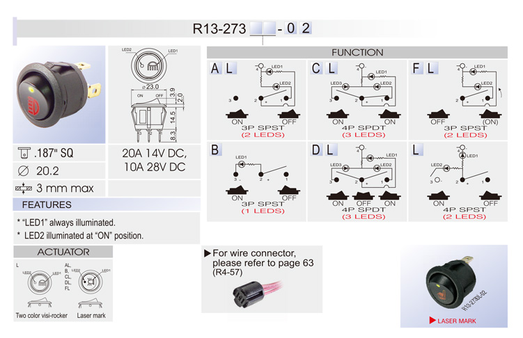 r13 273 r13) rocker switch car switches bentex r13 112 switch wiring diagram at highcare.asia